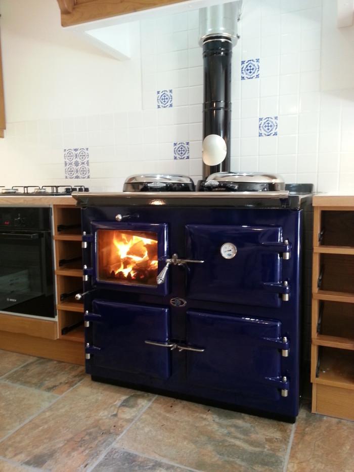 AGA wood fired cooker