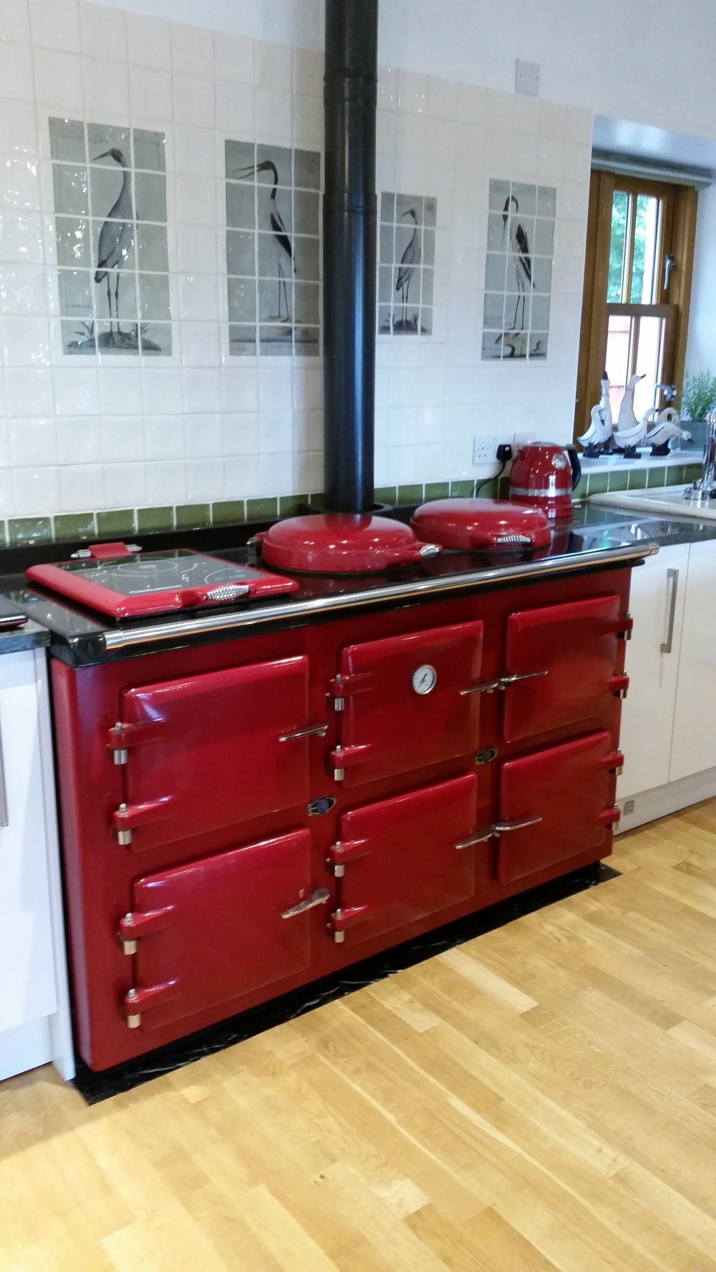 Red AGA pellet Cooker