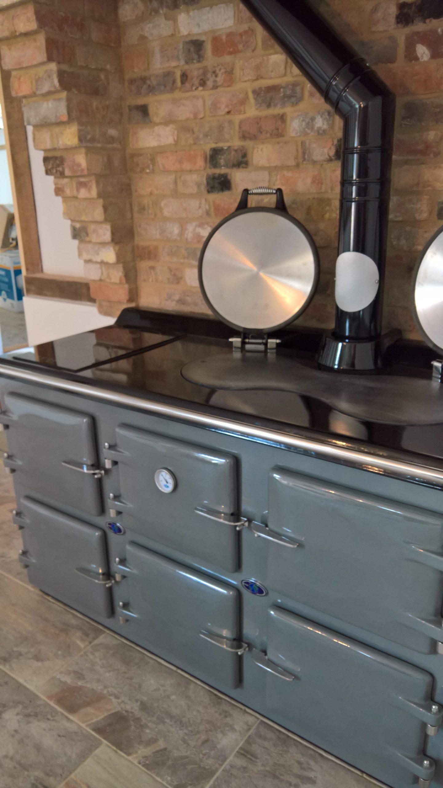 AGA light grey 5 oven oil